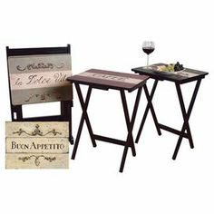 Linon Home Decor Tray Table Set Faux Marble Brown Best 753793884370 Linon  Home Decor Tray Table