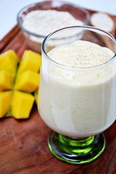 smoothie de mango con amaranto