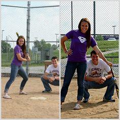 Softball Inspired Engagement Photos