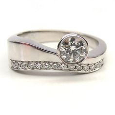 Custom Made 18karat - Contemporary Engagement Ring