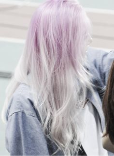 Nov 2018 - Colours of the Rainbow. See more ideas about Hair, Dyed hair and Hair styles. Lavender Hair, Coloured Hair, Dye My Hair, Grunge Hair, Mermaid Hair, Looks Style, Ombre Hair, Pale Pink Hair, White Hair