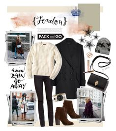 """Pack and Go: London"" by gabree ❤ liked on Polyvore featuring éS, Yves Saint Laurent, Isabel Marant, J.Crew, rag & bone, Urban Outfitters, Blue & Cream, By Terry, EF Collection and women's clothing"