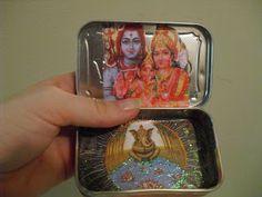 Altoid Tin Traveling Altars - A Hindu version, it's beautiful !