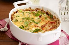 Fish and vegetables get top billing in this casserole, but cheesy red potatoes also play a memorable part. Bonus: Prep time is just 15 minutes.