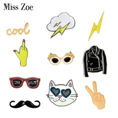 Arts,crafts & Sewing 1 Pcs Cartoon Cute White Cat Metal Brooch Button Pins Denim Jacket Pin Jewelry Decoration Badge For Clothes Lapel Pins To Enjoy High Reputation In The International Market Apparel Sewing & Fabric