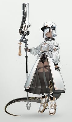 Fantasy Character Design, Character Design Inspiration, Character Concept, Character Art, Concept Art, Fantasy Characters, Female Characters, Anime Characters, Anime Weapons