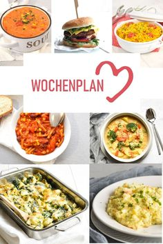 What is there to eat during the week? I have put together a whole week of delicious recipes for you here - you can cook them all vegan or vegetarian - the happy mix weekly schedule for the Thermomix - 21 Day Fix, Rice Recipes For Dinner, Breakfast Recipes, Healthy Chicken Recipes, Crockpot Recipes, Low Carb Meal, Rice Crispy Treats, Carne, Meal Planning