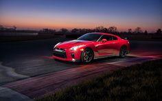 Descargar fondos de pantalla El Nissan GT-R, 2017, Pista de Edición, cupé Deportivo de Nissan rojo, Japonés coches deportivos