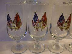 Vintage Marines Semper Fidelis Country Corps Marine Fi 6 Drinking Glasses Beer | eBay