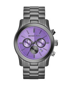 Michael Kors Oversize Gunmetal Stainless Steel Runway Chronograph Watch. Cannot wait till it arrives!!!