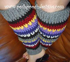 Posh Pooch Designs Dog Clothes: Yarn Stash Busting Leg Warmers Crochet Pattern!