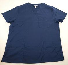 5e56b534a13 eBay #Sponsored Amazon Essentials Men's Quick-Dry Stretch Scrub Top Navy  Blue Medium NWOT