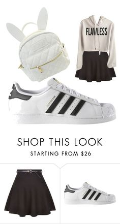"""""""Untitled #59"""" by cutiepi4life ❤ liked on Polyvore featuring New Look, adidas and cutekawaii"""