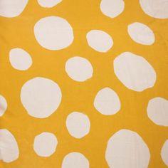 White Dotted on Yellow Silk  #hautecouture #silk #printed #fabric #fabricstore #coralgables #shopping #onlineshopping #fabrics #women #womensfashion #fashion #fashionfabrics