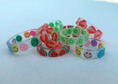 Funky Jewelry, Hippie Jewelry, Resin Jewelry, Cute Jewelry, Jewelry Accessories, Fimo Ring, Resin Ring, Polymer Clay Ring, Crea Fimo