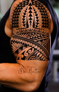 High Tech Polynesian Style  #polynesian #tattoo