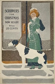 Love this vintage dog postcard...Christmas postcards, a thing of yesteryear~