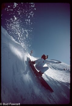 Tom Sims (RIP) slash Photo by Bud Fawcett.  My first board was a Sims, I got into snowboarding because of that board.  Thanks Tom!