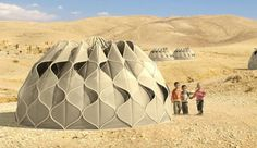 Behold The Tent Of The Future! Collects Solar Energy, Rainwater, And Folds Up For Easy Travel