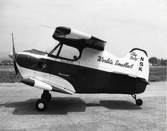 The Stits SA-2A Sky Baby was Ray Stits project to build the world's smallest piloted airplane. The itty-bitty biplane has a wingspan of just over seven feet and runs not quite ten feet long.