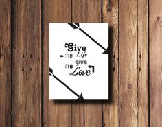 Quote Wall Art Digital Download Letter Size Format by PrintsLM