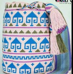 Tapestry Bag, Tapestry Crochet, Poufs, Knit Or Crochet, Fashion Backpack, Knitting, Pattern, Backpack Purse, Colombia