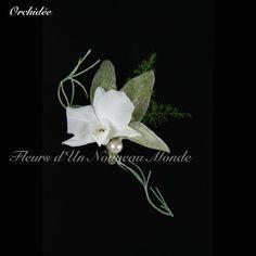 Boutonnière Orchidée - Fleurs d'un Nouveau Monde