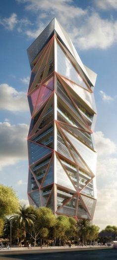 Parinee I, Mumbai, India by James Law Cybertecture International :: 33 floors, height 160m