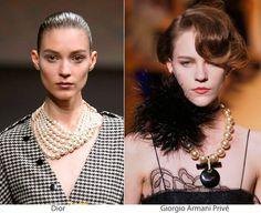 Ah, as pérolas!!! Clássicas, são boas apostas para um visual sofisticado e com muito glamour.   #moda #luxo #clássicas #pérolas #acessórios