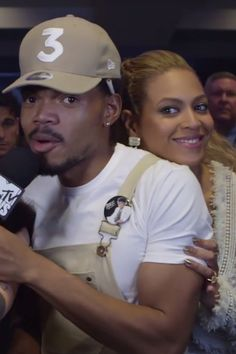 Chance the Rapper Reacts to Meeting Beyoncé With a Happy Dance, Naturally