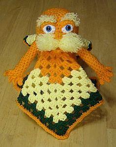 Lorax Inspired Lovey Security Blanket Crochet Pattern