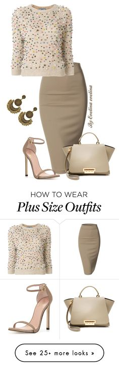"""EVE"" by evelina-er on Polyvore featuring Doublju, Prada, ZAC Zac Posen and Stuart Weitzman"