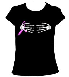 Skeleton Hands Breast Cancer Ribbon Halloween Costume by FastTees, $17.00