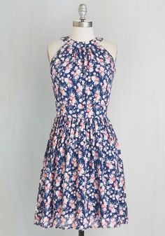 All Abloom Dress. Showcase your enthusiasm for all things floral in this navy-blue dress. #multi #modcloth