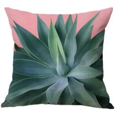 Spring Summer Leaf Sofa Throw Pillow Cover (110 MXN) ❤ liked on Polyvore featuring home, bed & bath, bedding and bed pillows