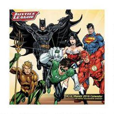 Justice League World's Greatest Super Heroes 2016 Calendar |