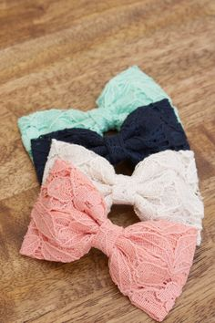 Lacy Bow - LOVE LOVE LOVE all these colors!!!! #musthave #hairbowlove