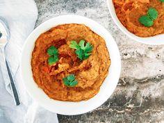 Parsnip, Carrot & Kumara Soup Kumara Recipes, Carrots, Curry, Soup, Vegan, Ethnic Recipes, Carrot, Curries, Soups