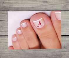 College Gifts, Grad Gifts, Nail Decals, Vinyl Decals, Alabama, Pedicure Nail Art, Clemson, Laptop Decal, Collage