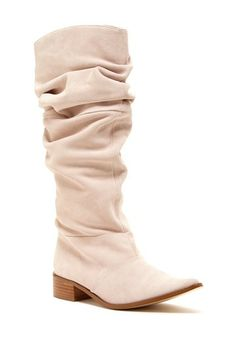 Blush Slouch Boots - cute for spring