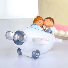 Cake Topper - $19.69 - Airplane Resin Wedding Cake Topper (119037335) http://jjshouse.com/Airplane-Resin-Wedding-Cake-Topper-119037335-g37335