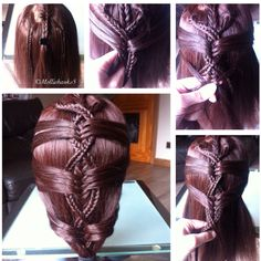 Fishtail braided style