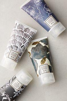 Winter Blooms Hand Cream at anthropologie -- (vanilla chai, citrus & holly , cranberry cedarbark, golden amber) -- $12.00 ea