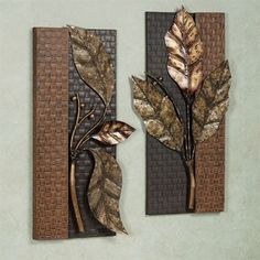A reflective mood grips you when you lose yourself in the beauty of the Somber Leaves Wall Panel Set. The metal wall panels feature branches with leaves.Shop metal wall art decor and sculptures.Home Decoration Cheap IdeasHome Decorators Lighting Coll Clay Wall Art, Metal Wall Art Decor, Metal Tree Wall Art, Mural Wall Art, Metal Artwork, Metal Wall Panel, Metal Walls, Deco Zen, Metal Art Projects