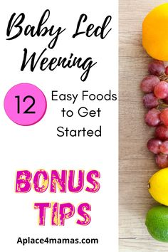 Baby led weening, what it looks like and 12 easy foods to get you going with your little one! Don't miss out on my 2 bonus tips that make life easier! #babyledweening #babysfirstfood #tablefood#feedthebaby Baby Care Tips, Baby Tips, Baby Hacks, Baby Puree Recipes, Baby Food Recipes, Parenting Styles, Parenting Tips, Fresh Food Feeder, Baby Development Milestones