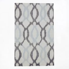 Ikat Links Rug, 5'x8', Frost Gray