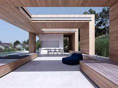 Prachtige veranda, met open en overdekte gedeelten, zodat je er maximaal gebruik van kunt maken. Love it!