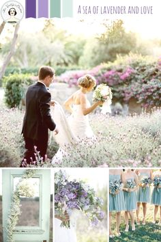 A Sea of Lavender & Love - inspiration for a romantic wedding in shades of lavender and sea foam