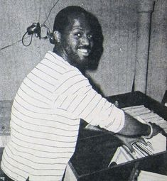 Young Frankie Knuckles in the booth.