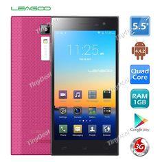 "LEAGOO LEAD1 5.5\"" MTK6582 Quad Core Android 4.4.2 Phone 13MP CAM 1GB RAM 8GB ROM WiFi Display Gesture Sensing P081-LEAD1"